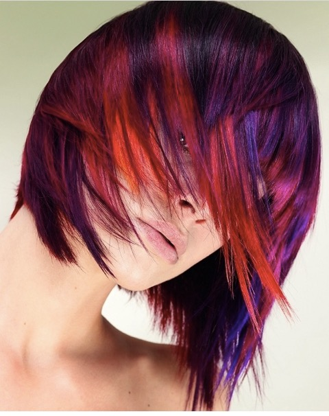 Jewel toned highlights #5