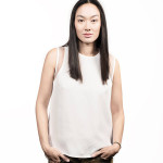 Female asian model before using Hairdreams Laserbeamer Nano