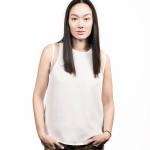 Female asian model before using Hairdreams Laserbeamer Nano